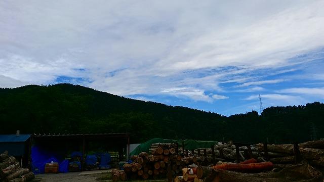 セルン工場の山々2018年6月18日